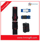 Multicolor Printed Luggage Belt with Password Buckle and Name Card