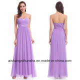 Elegant Wedding Bridesmaid Dresses Long Chiffon Strapless Empire Dress