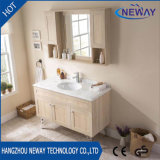 Floor Standing Wood Hotel Furniture with Mirror Cabinet