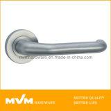 Stainless Steel Door Handle on Rose (S1018)