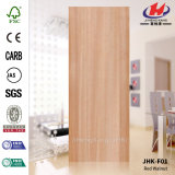 Jhk-F01 Flat Red Walnut MDF Popular Veneer Door Skin