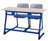 2015 Best Seller Blue Double Student Table and Chair with Steel Frame