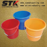 10L Plastic Bucket with Metal Handle