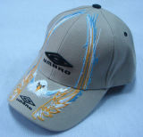 Embroidered 6 Panel Baseball Cap in Grey Color 1009