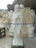 Praying Virgin Mary Marble Sculpture Stone Caring Stone Statue