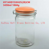 Large Food Glass Seal Jar Food Container 3450ml