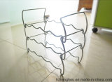 12 Bottles Practical Delicate Wine Display Stand for Wire Rack