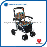 Rollator Shopping Trolley with Seat for Elderly