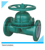 Flanged Type PTFE Lined Diaphragm Cast Steel Valve for Drain