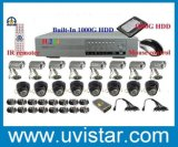 16CH CCTV System H. 264 Network DVR 16 CCD Camera Home Security System (DH1316KPF)