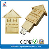 House Style Wood USB Flash Disk