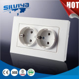 Schuko Grounding 2 Gang Wall Socket/Eurepean Standard /16A
