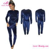 Dark Blue Long Sleeves Warm Romper Jumpsuit