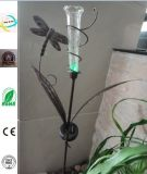 Iron Craft Metal Dragofly Craft with Solar Light for Garden Decoration Homeware