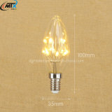 High Quality 110V 220V Warm White E12 1W Candle Lamp