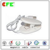 White 4pin Magnetic Connector with USB Cable for Security Gate