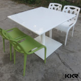 High Glossy Stone Table White Restaurant Dining Table