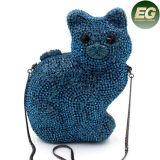 2017 Cat Shape Evening Bag Women Crystalstone Hardcase Clutch Bag Leb730
