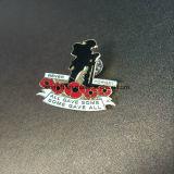 Customized Hard Enamel Poppy Flower Lapel Pin