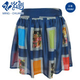 Mixed-Color Big-Plaid Pattern Pleated Fashion Ladies Skirt