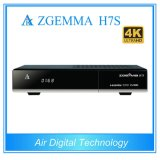 New DVB-S2X Uhd Satellite Receiver Zgemma H7s with 2*DVB-S2X + DVB-T2/C Three Tuners H. 265 Hevc Decoder