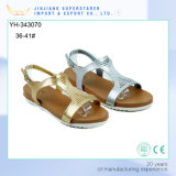 Gold Silver PVC Upper Ladies Teen Girls Flat Sandals
