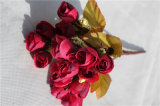 Mini Artificial Silk Rose Flowers for Home Decoration