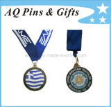 Soft Cloisonne Medal with Printing Ribbon
