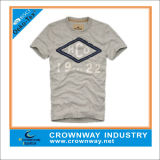 Mens Heavy Weight Cotton T-Shirt with Printing and Applique