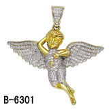 925 Sterling Silver Micro Setting Angel Pendant