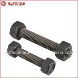 Black B7 Stud Bolts / B7 Threaded Bolt with Two Hex Nuts