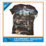 Wholesale Customized Men Digital Printing T-Shirt with Round Neck