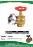 "Pressure Reduce Angle Hydrant Valve: 2""Bsp	-2""Bsp & 2"" Storz"