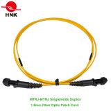 MTRJ to MTRJ Singlemode Duplex 1.8mm Fiber Optic Patch Cord