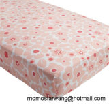 Qualified 100% Muslin Cotton Printing Baby Bed Sheet Crib Sheet