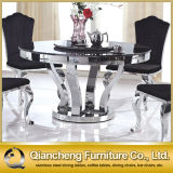 Home Furniture Dining Table Set Stainless Steel Base