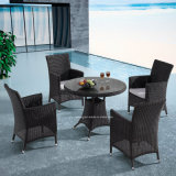 Popular New Small Round Rattan Outdoor Garden Furniture Dining Set with Umbrella Hole in Middle (YTA100&YTD413)