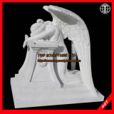 Marble Granite Angel Statue for Cemetery Tombstone Monument Headstone