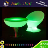 PE Material Plastic LED Lighted Round Table