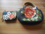 Beauty Flower Set Min Neoprene Handbag Tote Bag Purse Kit