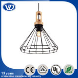 Creative Simple Personality Solid Wood Iron Cage Lamps