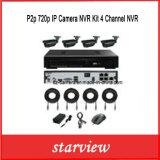 P2p 720p IP Camera NVR Kit 4 Channel NVR