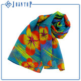 Colorful Skull Floral Whosale Long Polyester Print Scarf