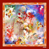 Beautiful Custom High Quality Beautiful Digital Printing Fashion Silk Scarf (F13-0046)