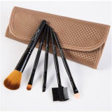 Portable 5 PCS Pounch Case Eyeshadow Kit Beauty Makeup Brush Set