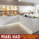 White High Gloss Plywood Acrylic Wood Kitchens Cabinet
