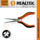 Nickel-Planted Mini Needle Nose Pliers with Bi-Color Plastic Handles