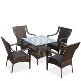 Foshan Cheap Garden Furniture Outdoor Rattan /Wicker Table and Chairs (Z355)