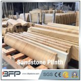 Yellow Wood Vein Sandstone Plinth for Door Frame/Wall Decoration