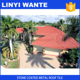 Red Stone Coated Metal Roof Tile for Roofing Material